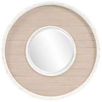 Howard Elliott Collection 56183 Benton 32 X 32 inch Antique Taupe Wall Mirror, Round photo thumbnail