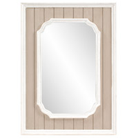 Howard Elliott Collection 56185 Nanette 43 X 31 inch Rustic Antique Taupe and White Washed Trim Wall Mirror Home Decor