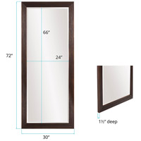 Howard Elliott Collection 57024 Maxwell 72 X 30 inch Dark Espresso Brown Floor Mirror alternative photo thumbnail