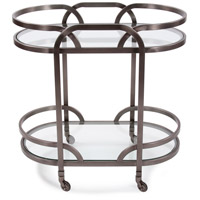 Howard Elliott Collection 58038 Carter Black Nickel Bar Cart photo thumbnail