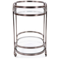 Howard Elliott Collection 58038 Carter Black Nickel Bar Cart alternative photo thumbnail