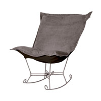 Howard Elliott Collection 600-225 Bella Pewter Gray Rocker Chair photo thumbnail