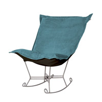 Howard Elliott Collection 600-250 Mojo Turquoise Blue Rocker Chair photo thumbnail