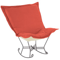Scroll Puff Poppy Red Rocker, with Titanium Frame