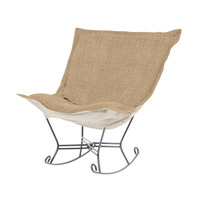 Howard Elliott Collection 600-888 Coco Stone Brown Rocker Chair photo thumbnail