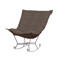 Howard Elliott Collection 600-891 Coco Slate Gray Rocker Chair photo thumbnail