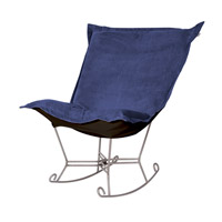 Howard Elliott Collection 600-972 Bella Rich Royal Blue Rocker Chair photo thumbnail