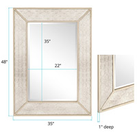 Howard Elliott Collection 60001 Rockefeller 48 X 35 inch Silver Wall Mirror alternative photo thumbnail
