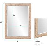 Howard Elliott Collection 60012 Lincoln 72 X 36 inch White Wall Mirror alternative photo thumbnail