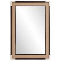 Howard Elliott Collection 60024 Leavitt 36 X 24 inch Natural Tan and Dark Walnut Wall Mirror, Rectangle photo thumbnail