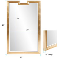 Howard Elliott Collection 60028 Danube 48 X 30 inch Gold Mirror Wall Mirror alternative photo thumbnail