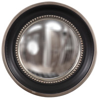 Howard Elliott Collection 60173 Patterson 16 X 16 inch Matte Black Wall Mirror, Round, Silver Leaf Trim photo thumbnail