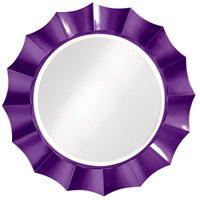 Howard Elliott Collection 6019RP Corona 41 X 41 inch Glossy Purple Wall Mirror, Round photo thumbnail