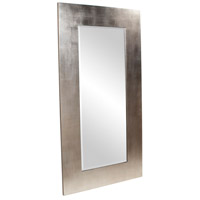 Howard Elliott Collection 60202 Sonic 20 X 20 inch Bright Silver Leaf Floor Mirror, Rectangle