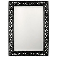 Howard Elliott Collection 6041BL Bristol 36 X 26 inch Black Wall Mirror, Rectangle photo thumbnail