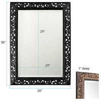 Howard Elliott Collection 6041BL Bristol 36 X 26 inch Black Wall Mirror, Rectangle alternative photo thumbnail