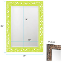 Howard Elliott Collection 6041MG Bristol 36 X 26 inch Moss Green Wall Mirror, Rectangle alternative photo thumbnail