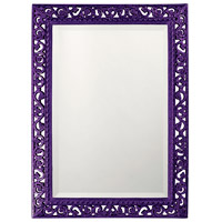 Howard Elliott Collection 6041RP Bristol 36 X 26 inch Black Wall Mirror, Rectangle photo thumbnail