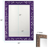 Howard Elliott Collection 6041RP Bristol 36 X 26 inch Black Wall Mirror, Rectangle alternative photo thumbnail