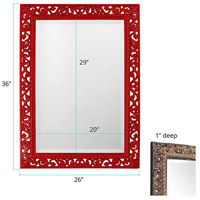Howard Elliott Collection 6041R Bristol 36 X 26 inch Black Wall Mirror, Rectangle alternative photo thumbnail
