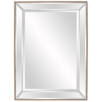 Roberto 48 X 36 inch Champagne Silver Wall Mirror, Rectangle