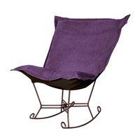 Howard Elliott Collection 655-223 Bella Deep Eggplant Rocker Chair photo thumbnail