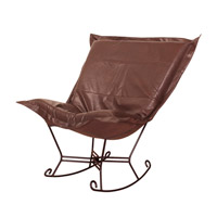 Howard Elliott Collection 655-192 Avanti Deep Brown Rocker Chair photo thumbnail