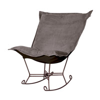 Howard Elliott Collection 655-225 Bella Pewter Gray Rocker Chair photo thumbnail