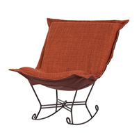Howard Elliott Collection 655-885 Coco Terra Cotta Rocker Chair photo thumbnail
