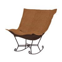 Howard Elliott Collection 655-886 Coco Rich Golden Topaz Brown Rocker Chair photo thumbnail