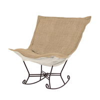 Howard Elliott Collection 655-888 Coco Stone Brown Rocker Chair photo thumbnail