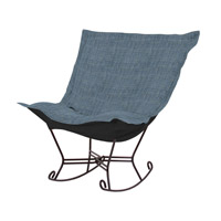 Howard Elliott Collection 655-889 Coco Sapphire Blue Rocker Chair photo thumbnail