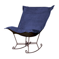 Howard Elliott Collection 655-972 Bella Rich Royal Blue Rocker Chair photo thumbnail