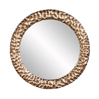 Howard Elliott Collection 68064 Crosby Champagne and Gold Wall Mirror, Round photo thumbnail