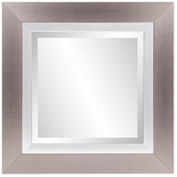 Chicago 18 X 18 inch Brushed Silver Mirror Home Decor, Square