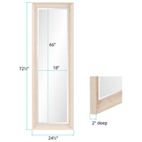 Howard Elliott Collection 69059 Parker 72 X 24 inch Creamy White and Wood Grain Wall Mirror alternative photo thumbnail