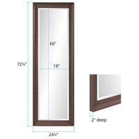 Howard Elliott Collection 69061 Nolan 72 X 24 inch Dark Brown Wall Mirror alternative photo thumbnail