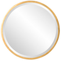 Howard Elliott Collection 71002 Brando 24 X 24 inch Glossy Black and Gold Wall Mirror photo thumbnail