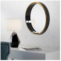 Howard Elliott Collection 71002 Brando 24 X 24 inch Glossy Black and Gold Wall Mirror alternative photo thumbnail