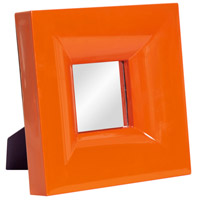 Howard Elliott Collection 78001 Candy 9 X 9 inch Orange Lacquer Table Mirror, Square photo thumbnail