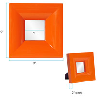 Howard Elliott Collection 78001 Candy 9 X 9 inch Orange Lacquer Table Mirror, Square alternative photo thumbnail