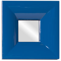 Howard Elliott Collection 78002 Candy 9 X 9 inch Teal Lacquer Wall Mirror, Square photo thumbnail