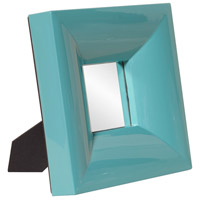 Candy 9 X 9 inch Teal Mirror Home Decor, Rectangle, Small