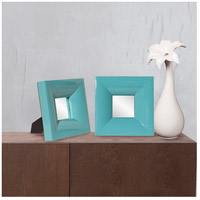 Howard Elliott Collection 78003 Candy 9 X 9 inch Teal Table Mirror, Rectangle, Small alternative photo thumbnail