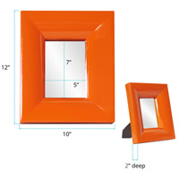 Howard Elliott Collection 78004 Candy 9 X 9 inch Orange Table Mirror, Rectangle alternative photo thumbnail