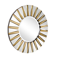 Colleen 36 X 36 inch Clear and Amber Mirror Home Decor, Round