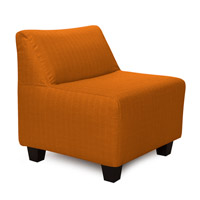 Pod Orange Accent Chair, Linen Texture