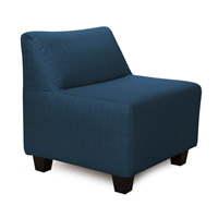 Pod Dark Blue Accent Chair, Linen Texture