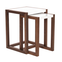 Java 14 X 14 inch Java Brown Wood Nesting Table Home Decor, Set of 2