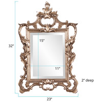 Howard Elliott Collection 84012 Andrews 32 X 20 inch Antique Champagne Silver Leaf Wall Mirror, Rectangle alternative photo thumbnail